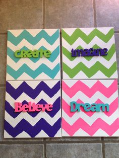 Classroom decorations. Canvas & cricut letters- the CARES plus other important character words