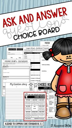 This choice board gives you everything you need for your students to practice asking questions while reading. 8 different activities that support creativity and critical thinking while working on this important skill! Activity guidelines, activity sheets, and a rubric also included!