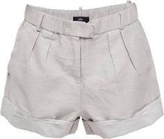 Grey linen short - Your efficient wardrobe! Cute Summer Outfits, Cute Outfits, Look Con Short, Fashion Capsule, Linen Shorts, Pants Outfit, Casual Looks, White Shorts, Casual Shorts