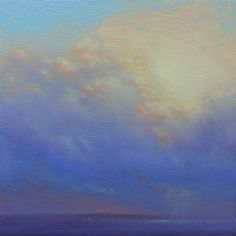 """Gord MacDonald - 10"""" by 10"""" oil on board - Clouds"""