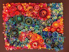 Rolled paper design . Teacher example