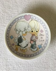 Vintage Precious Moments Plate 1992 collectors plate---SEW IN LOVE by MontanaDusted on Etsy https://www.etsy.com/listing/293702509/vintage-precious-moments-plate-1992