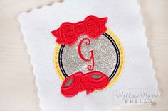 Mellow Marsh Frills embroidery and applique Custom Embroidery, Monograms, Bridal Accessories, No Frills, Applique, Fantasy, Inspired, Character, Etsy