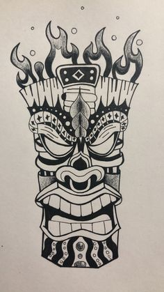 Tiki Hawaii, Tiki Tattoo, Tiki Statues, Legendary Pictures, Tiki Totem, Traditional Tattoo Art, Tiki Mask, Bleach Art, Prop Making