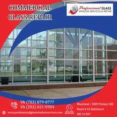 Professional Glass Window Services and Repair handles any type of commercial glass repair and replacement services in Washington DC, Virginia, and Maryland. For more information call on Window Repair, Broken Window, Falls Church, Glass Repair, Glass Replacement, Skylight, Washington Dc, Maryland, Virginia