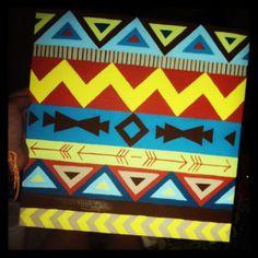 Tribal aztec canvas