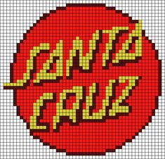 Santa Cruz Logo, Hand Logo, Alpha Patterns, Friendship Bracelet Patterns, Logo Branding, Diy, Bricolage, Do It Yourself, Homemade