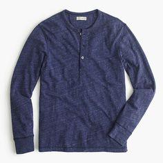 Flagstone marled henley : t-shirts, polos & fleece | J.Crew