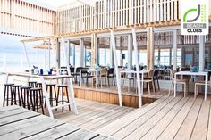 Barbouni Restaurant in Pilos, Greece Beach Restaurant Design, Restaurant Lighting, Restaurant Bar, Bar Interior, Interior And Exterior, Holland, Home Temple, Temple House, Beach Cafe