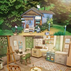 made my first starterhome tonight, and it was so fun! Gazebo, Outdoor Structures, Cabin, House Styles, Building, Fun, Sims Games, Sims 4, Videogames