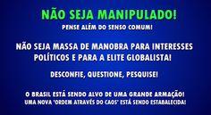 Disso Voce Sabia?: Agenda ILLUMINATI por trás da onda de protestos e anarquia no Brasil?