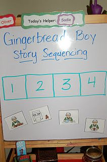 Gingerbread Boy Story Sequencing