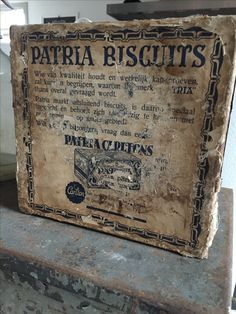 Old biscuit box