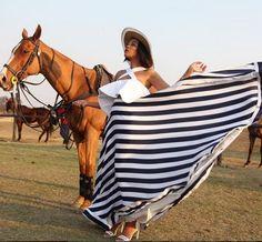 Terry Pheto: Beautiful Skirt flared ( Black and white stripes)