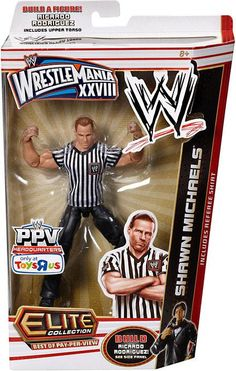 Mattel WWE Wrestling Exclusive Wrestlemania 28 Elite Best of Pay Per View Action Figure Shawn Michaels [Ricardo Rodriguez Build-a-Figure] Figuras Wwe, Aj Styles Wwe, Ricardo Rodriguez, Eddie Guerrero, Wwe Toys, Wwe Action Figures, Wwe Elite, Shawn Michaels, Wrestling Superstars