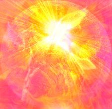 the golden dust sprinkled upon the earth, showering, the earth, in christs light and love, peace upon the earth.