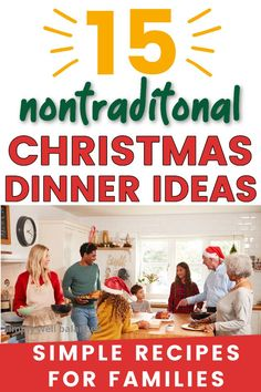 15 easy Chistmas dinner recipes that your family will love. Skip the stress and go for one of the nontraditional Christmas dinner ideas this year. Simple and festive holiday dinner menu ideas… More Nontraditional Christmas Dinner, Easy Christmas Dinner, Family Christmas Gifts, Holiday Dinner, Simple Christmas, Holiday Recipes, Dinner Recipes, Holiday Ideas, Christmas Ideas