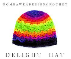 Delight Hat - Free Textured Shell Hat Pattern - OombawkaDesignCrochet