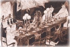And here is a Marc Davis rendering for the ball room scene.