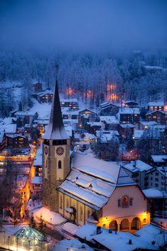 Snowy Night ~ Zermatt, Switzerland