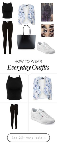 """My to go outfit of everyday"" by mia-edelbo on Polyvore featuring Reebok, Miss Selfridge, Dorothy Perkins and Yves Saint Laurent"