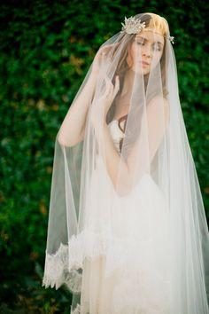 Bridal veil- double layer veil- fingertip veil-drop veil-wedding veil- waltz veil- circle blusher veil- cathedral veil-style 100 on Etsy, $92.96 CAD