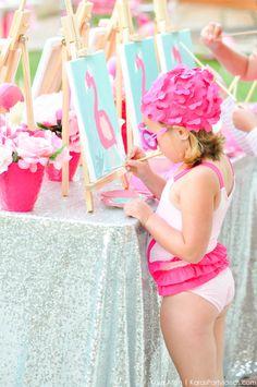 Flamingo Pool + Art Birthday Party by Kara Allen   Kara's Party Ideas KarasPartyIdeas.com Flamingle_-94