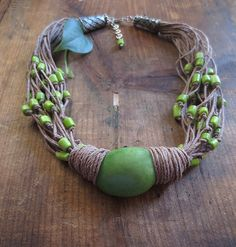 is made with lime green free form tagua nut ( 30 x 20 mm),lime ...