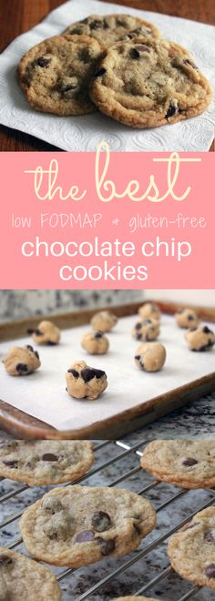 The BEST gluten free and low FODMAP chocolate chip cookie recipe: soft chewy and delicious!