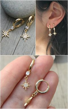 Trending Ear Piercing ideas for women. Ear Piercing Ideas and Piercing Unique Ear. Ear piercings can make you look totally different from the rest. Ear Jewelry, Gemstone Jewelry, Silver Jewelry, Fine Jewelry, Jewellery, Silver Ring, Circle Earrings, Silver Hoop Earrings, Crystal Earrings