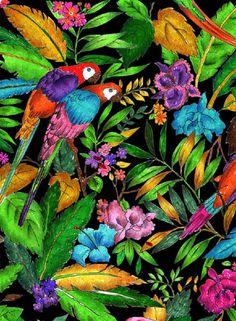 Tropical Print by Labaribaruska # Illustration # Ilustración