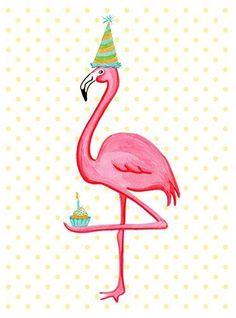 Birthday Greeting card Pink Flamingo who I love door AmelieLegault Happy Birthday Quotes, Happy Birthday Images, Happy Birthday Greetings, Birthday Messages, Birthday Pictures, Birthday Greeting Cards, Flamingo Birthday, Flamingo Party, Birthday Fun