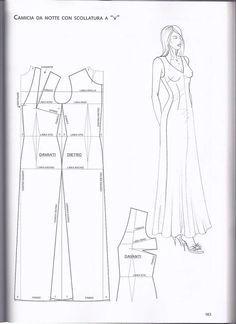 modelist kitapları: Das Modell wird in Band 2 veröffentlicht - Kleidung Dress Sewing Patterns, Clothing Patterns, Fashion Sewing, Diy Fashion, Sewing Clothes, Diy Clothes, Sewing Collars, Nightgown Pattern, Underwear Pattern