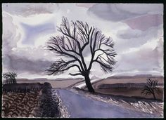 "David Hockney ""Hand Eye Heart"" Watercolors of the East Yorkshire Landscape, Tree, East Yorkshire, 2004 David Hockney Prints, David Hockney Landscapes, David Hockney Art, David Hockney Paintings, Fields In Arts, Pop Art Movement, Watercolor Landscape, Gravure, Sketches"