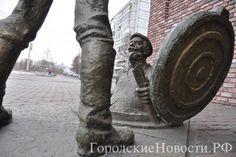 """Бронзовая скульптурная композиция """"Дядя Яша и стажёр"""""""