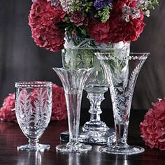 William Yeoward Crystal at Pretty Things of Beaumaris Crystal Wine Glasses, Crystal Glassware, Crystal Vase, Waterford Crystal, Cut Glass, Glass Art, Lalique Perfume Bottle, It Goes On, Decoration Table