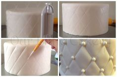 Beautiful quilted puffy effect on a cake.