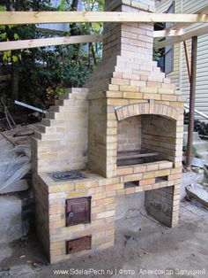 ovens DIY ovensDIY ovens Frame your living room fireplace with built-in seating. Outdoor Barbeque, Outdoor Oven, Outdoor Cooking, Design Barbecue, Grill Design, Brick Grill, Outdoor Fireplace Patio, Bbq Set, Built In Grill