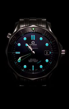 Omega Black Ceramic Seamaster Pro - the watch shop, watches for sale men, gold mens watch cheap *ad Dream Watches, Men's Watches, Luxury Watches, Cool Watches, Fashion Watches, Watches For Men, Omega Seamaster, Bracelet Cuir, Beautiful Watches