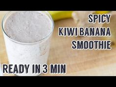 Spicy Kiwi Banana Smoothie | Perfect for Breakfast!