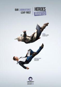 Campanha criativa, para vaga de emprego da Ubisoft  #design #ads #graphicdesign #inspiration #games #ubisoft