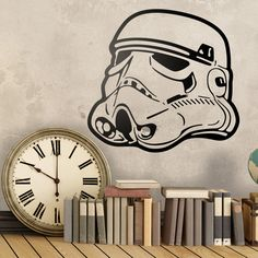 Stickers muraux: casque Trooper. Vinyle décoratif Star Wars. #starwars #trooper #stormtrooper #vinyle #mur #decoration #deco #WebStickersMuraux