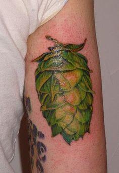 hops illustration tattoo hand - Pesquisa Google