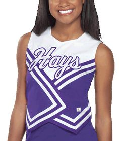Double-Knit W-Style Cheerleading Uniform Shell Top by Chassé