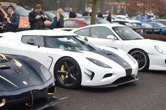 A Koenigsegg Agera RS 'Naraya' and Agera N showed up to Cars & Coffee today!