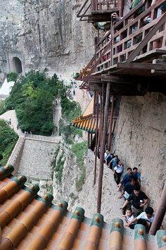 China. Hanging Temple of Hengshan, Shanxi province.