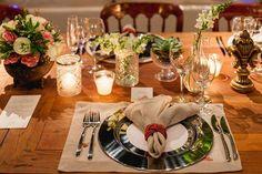 Guardanapo e composição de mesa