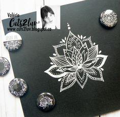 Mandala, Brooch, Watercolor, Black And White, Jewelry, Brooch Pin, Black White, Watercolor Painting, Blanco Y Negro