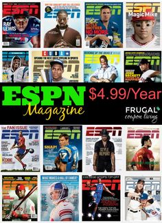 ESPN Magazine Sale $4.99 Per Year – Save off Newsstand