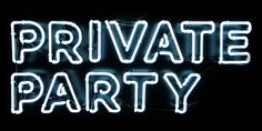 Private Party Neon Lights   Light Up Sign   Wall Art Words   Typography   Outlined Font